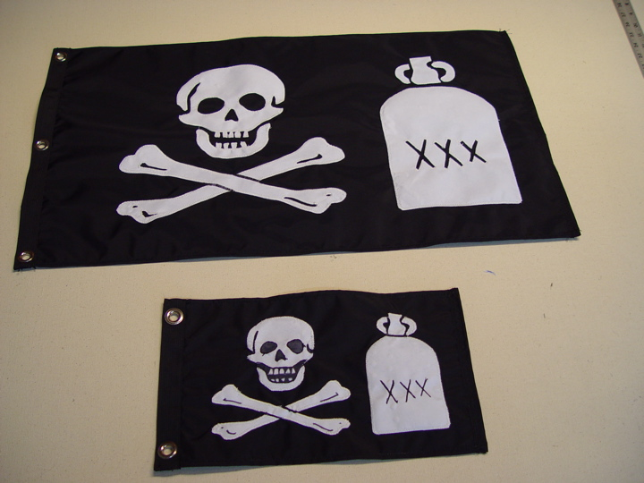 Custom Pirate Flag with Jug of Punch